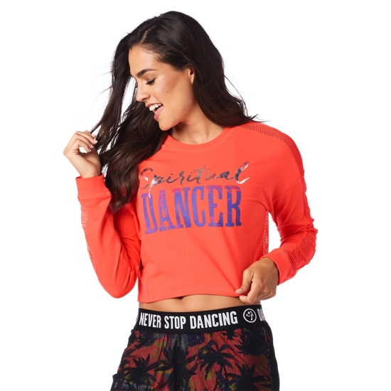 Bluzka Spiritual Dancer Crop Top Koralowa