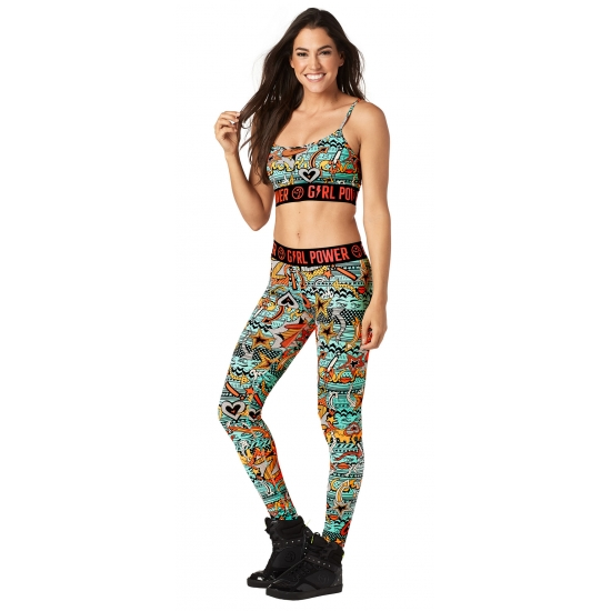 Top Zumba Power Bra Morski