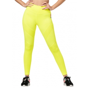 Legginsy z wysokim stanem żółte Zumba Bold is the New Basic